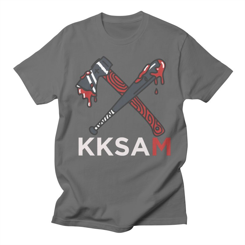 Kim and Ket Stay Alive... Maybe KKSAM Bat & Axe on Black Men's Regular T-Shirt by Kim and Ket Stay Alive... Maybe Podcast