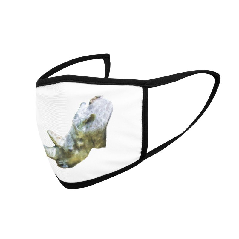 Rhinoceros Accessories Face Mask by Of The Wild by Kimberly J Tilley