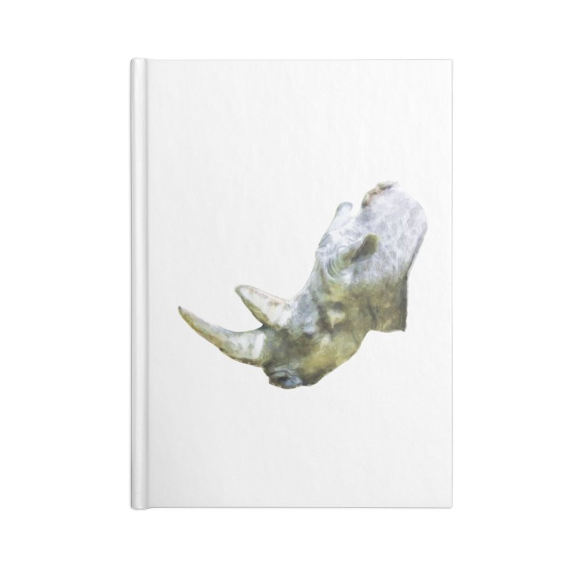 Rhinoceros Accessories Blank Journal Notebook by Of The Wild by Kimberly J Tilley