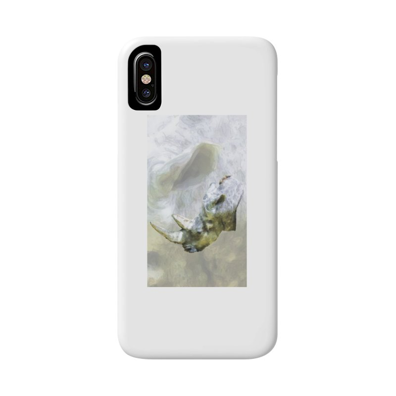 Rhinoceros Accessories Phone Case by Of The Wild by Kimberly J Tilley