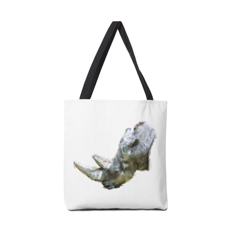 Rhinoceros Accessories Tote Bag Bag by Of The Wild by Kimberly J Tilley