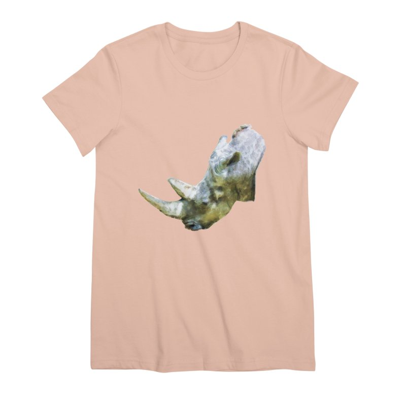 Rhinoceros Women's Premium T-Shirt by Of The Wild by Kimberly J Tilley