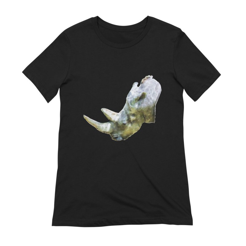Rhinoceros Women's Extra Soft T-Shirt by Of The Wild by Kimberly J Tilley