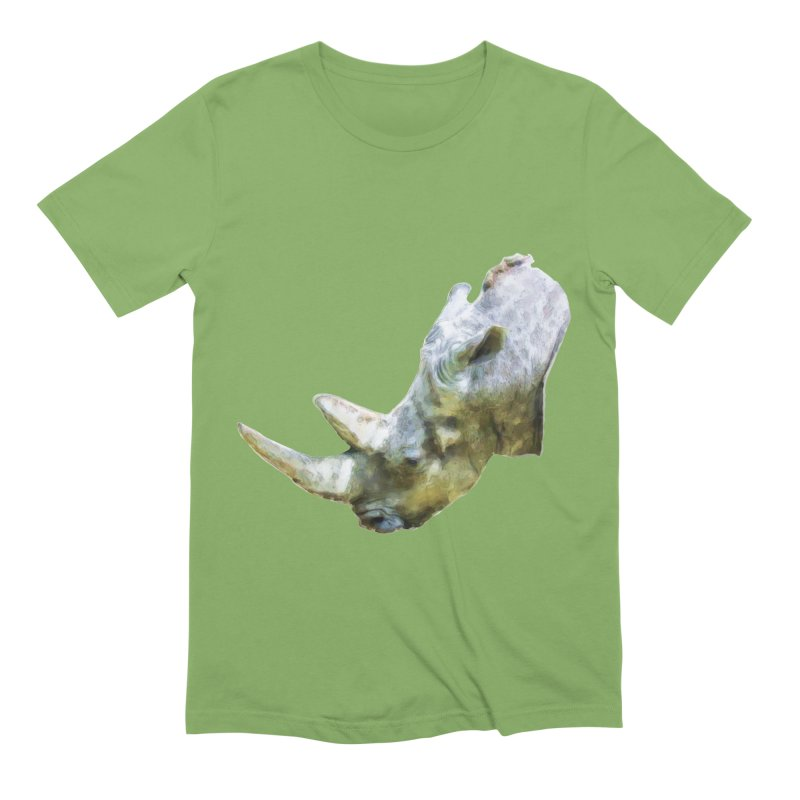 Rhinoceros Men's Extra Soft T-Shirt by Of The Wild by Kimberly J Tilley