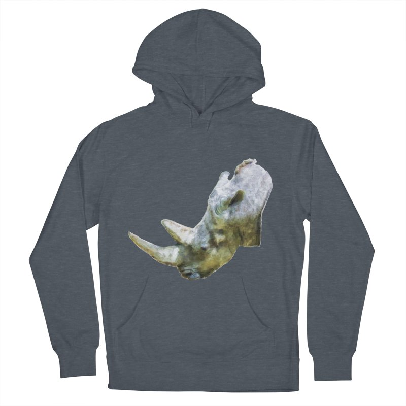 Rhinoceros Women's French Terry Pullover Hoody by Of The Wild by Kimberly J Tilley