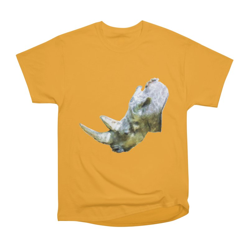 Rhinoceros Women's Heavyweight Unisex T-Shirt by Of The Wild by Kimberly J Tilley