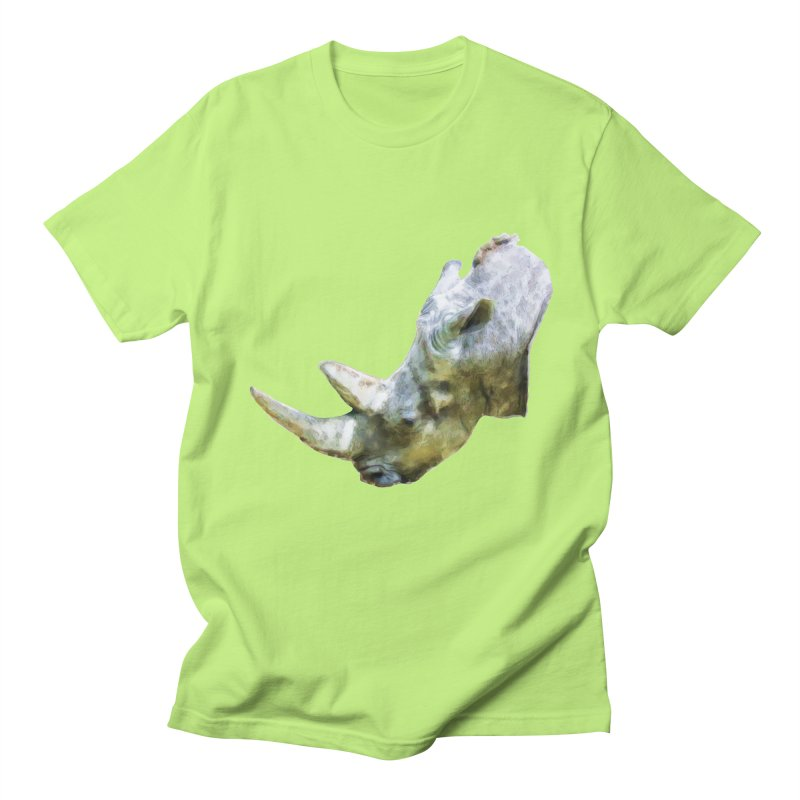 Rhinoceros Women's Regular Unisex T-Shirt by Of The Wild by Kimberly J Tilley