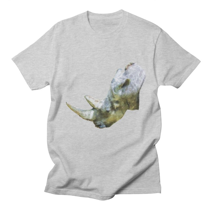 Rhinoceros Men's T-Shirt by Of The Wild by Kimberly J Tilley