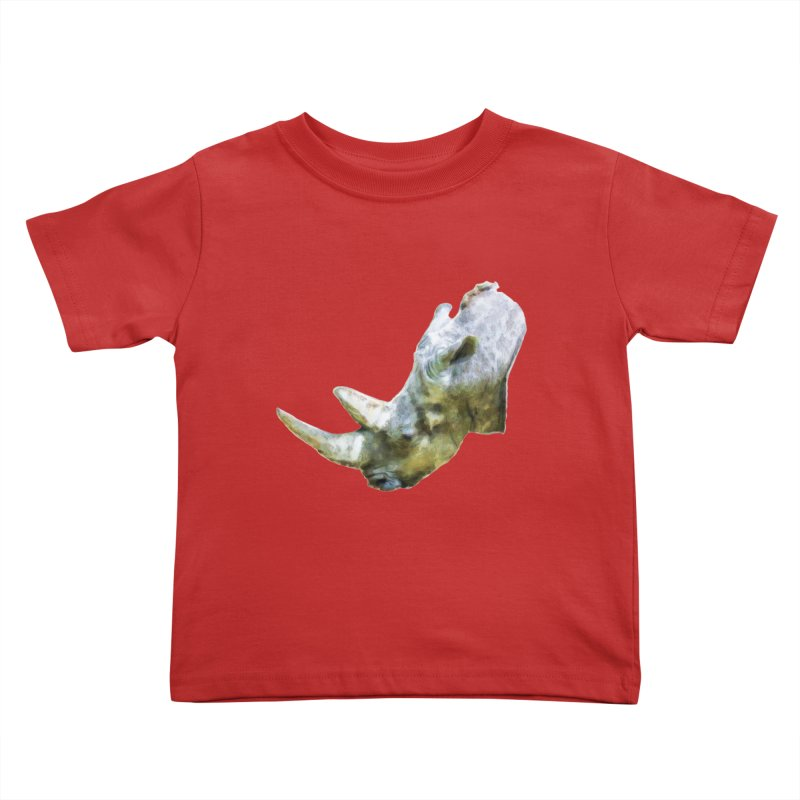Rhinoceros Kids Toddler T-Shirt by Of The Wild by Kimberly J Tilley