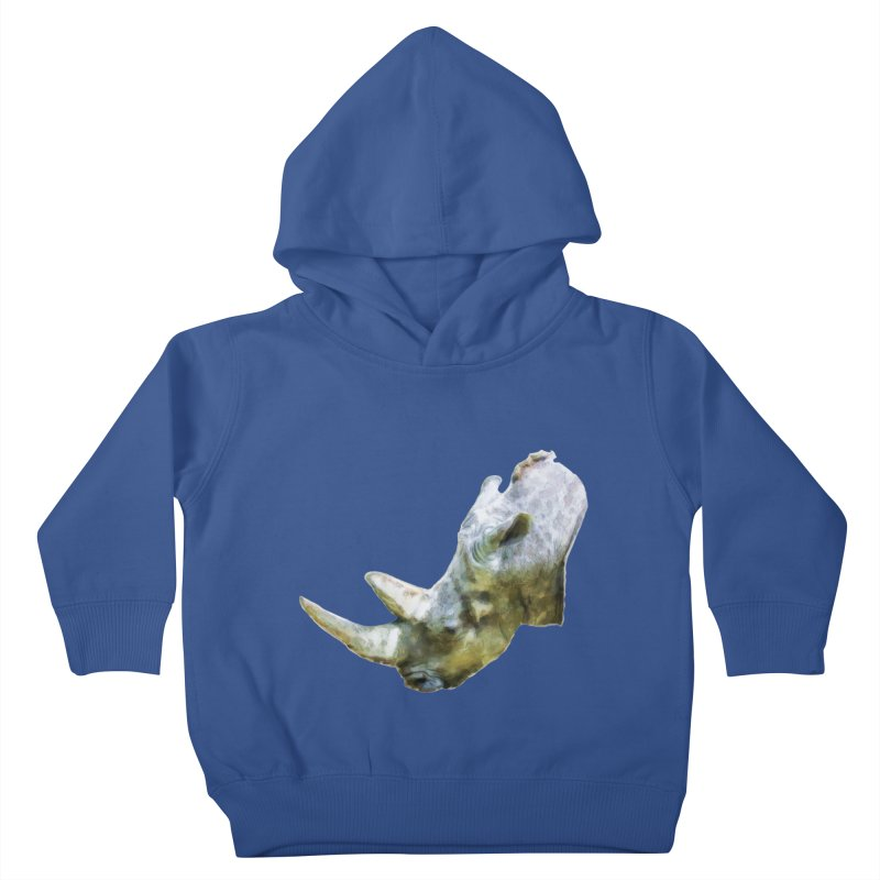 Rhinoceros Kids Toddler Pullover Hoody by Of The Wild by Kimberly J Tilley