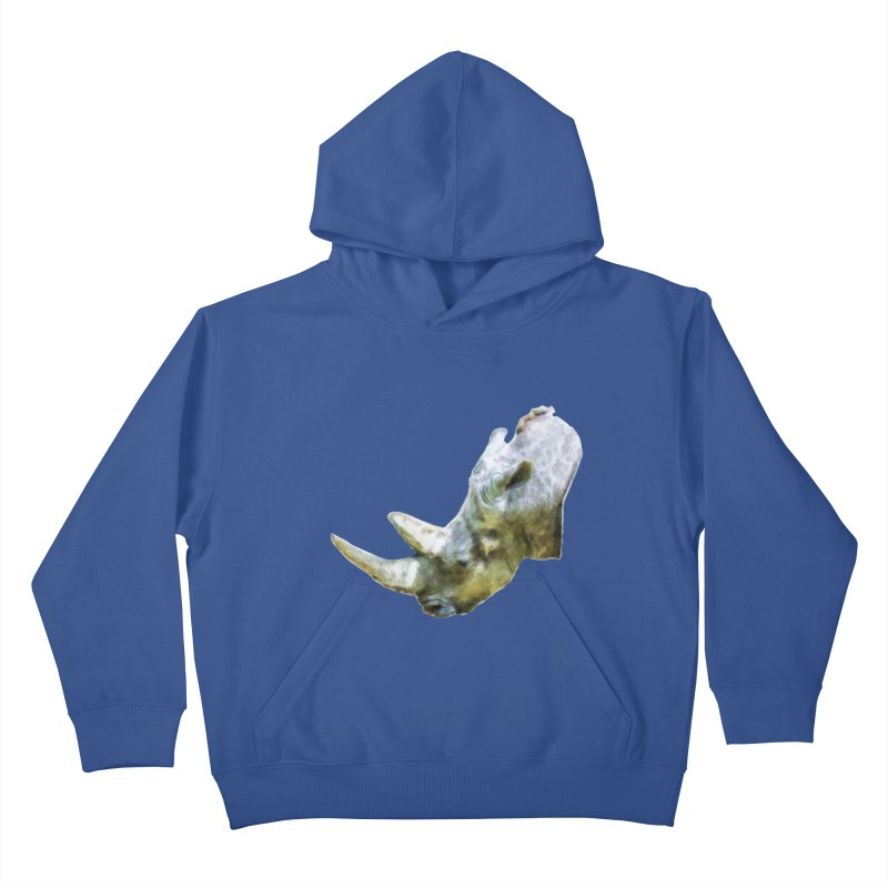Rhinoceros Kids Pullover Hoody by Of The Wild by Kimberly J Tilley