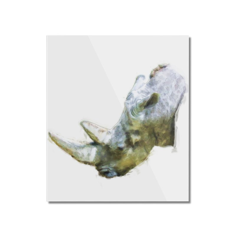 Rhinoceros Home Mounted Acrylic Print by Of The Wild by Kimberly J Tilley