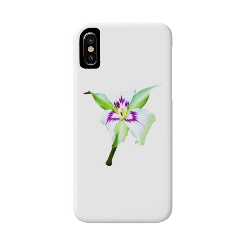 Trillium undulatum Accessories Phone Case by Of The Wild by Kimberly J Tilley