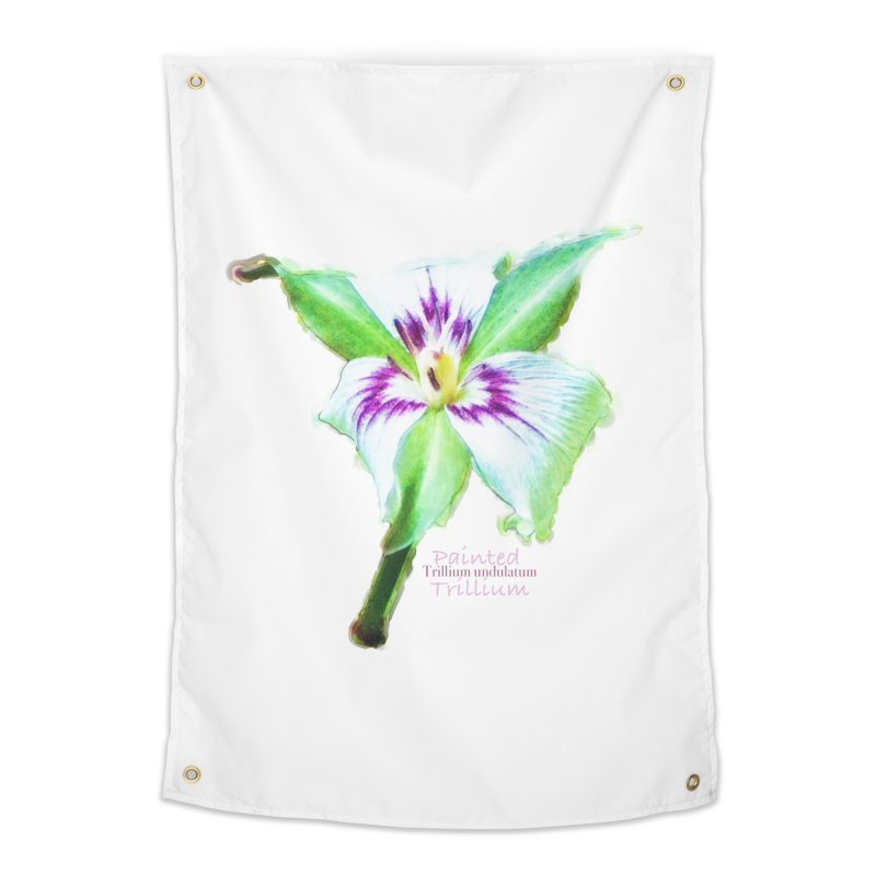 Trillium undulatum Home Tapestry by Of The Wild by Kimberly J Tilley