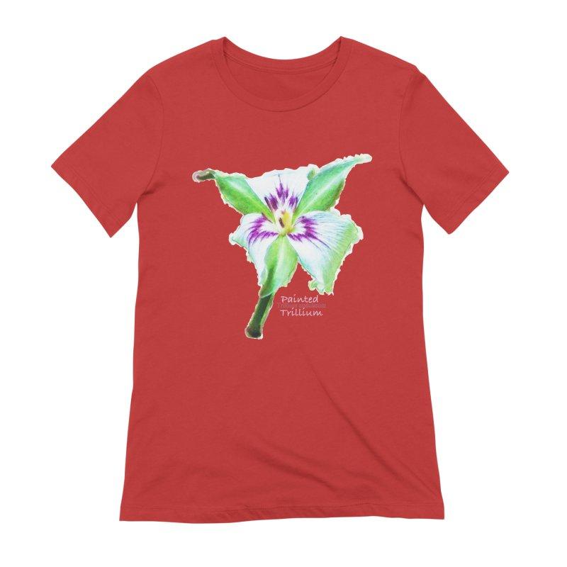 Trillium undulatum Women's Extra Soft T-Shirt by Of The Wild by Kimberly J Tilley