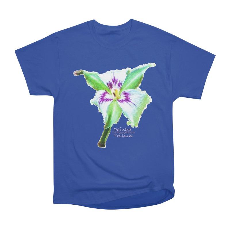 Trillium undulatum Women's Heavyweight Unisex T-Shirt by Of The Wild by Kimberly J Tilley
