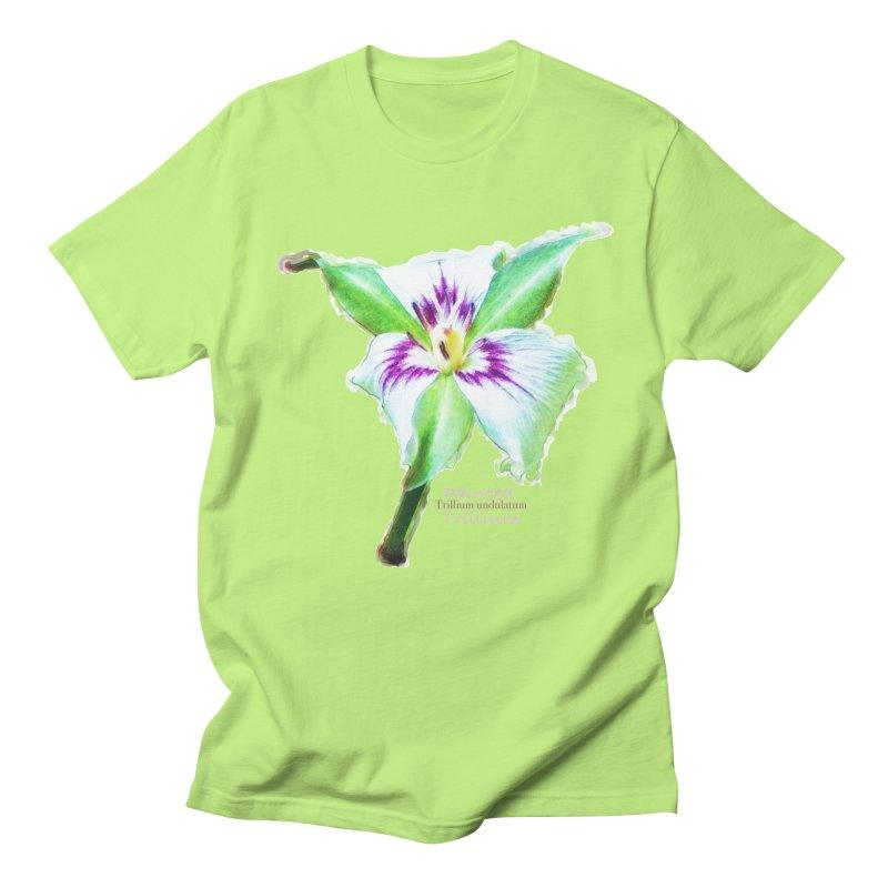 Trillium undulatum Women's Regular Unisex T-Shirt by Of The Wild by Kimberly J Tilley