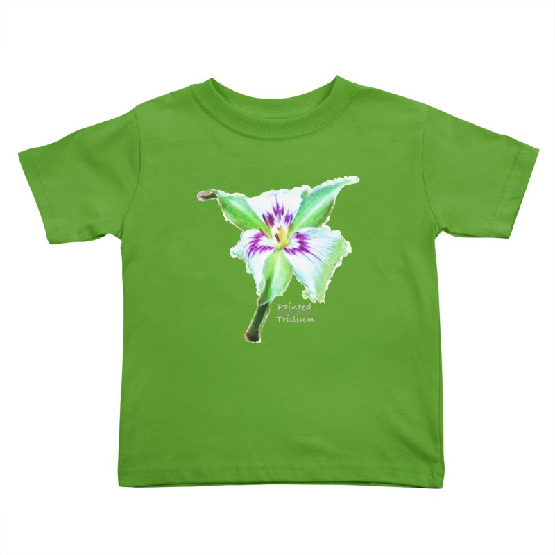 Trillium undulatum Kids Toddler T-Shirt by Of The Wild by Kimberly J Tilley