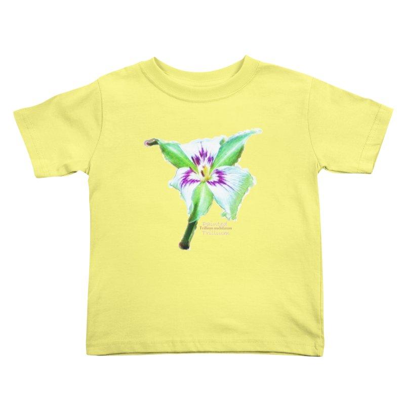 Trillium undulatum Kids Toddler T-Shirt by Of The Wild by Kimberly J Tilley