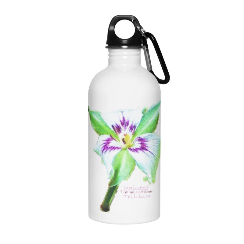 Trillium undulatum Accessories Water Bottle by Of The Wild by Kimberly J Tilley