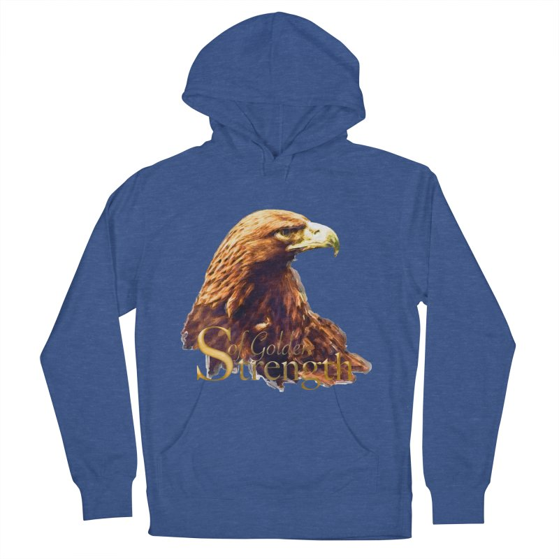 Strength Men's French Terry Pullover Hoody by Of The Wild by Kimberly J Tilley