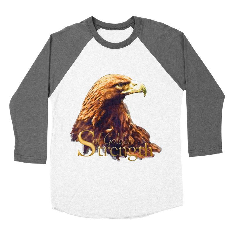 Strength Men's Baseball Triblend T-Shirt by Of The Wild by Kimberly J Tilley
