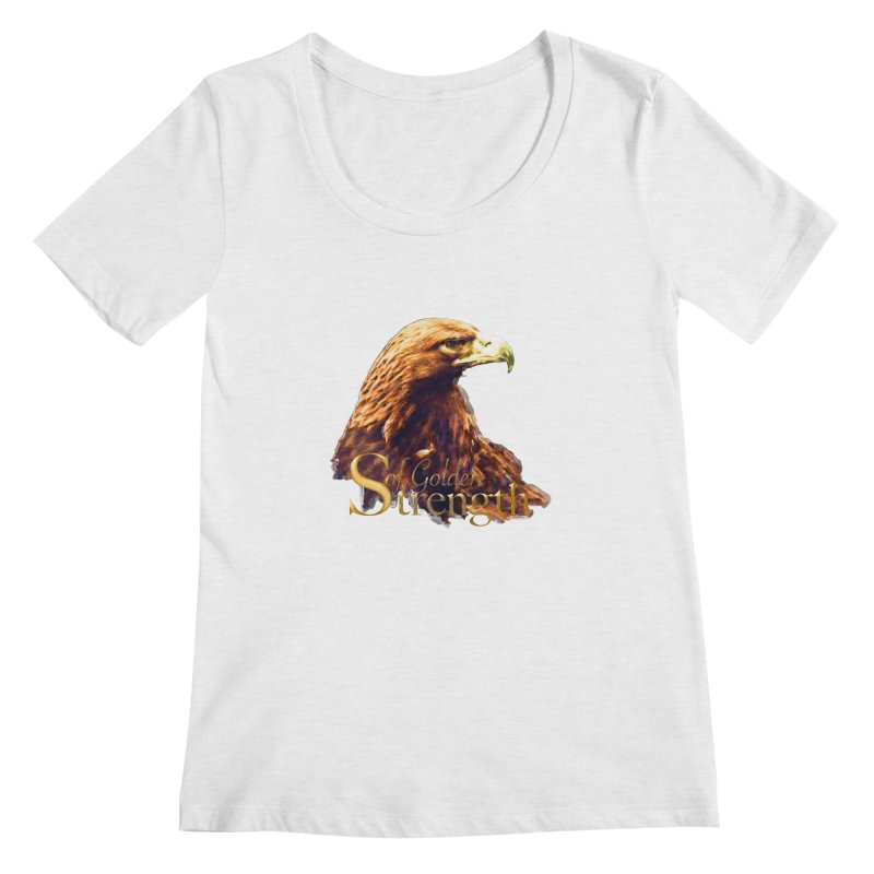 Strength Women's Scoop Neck by Of The Wild by Kimberly J Tilley