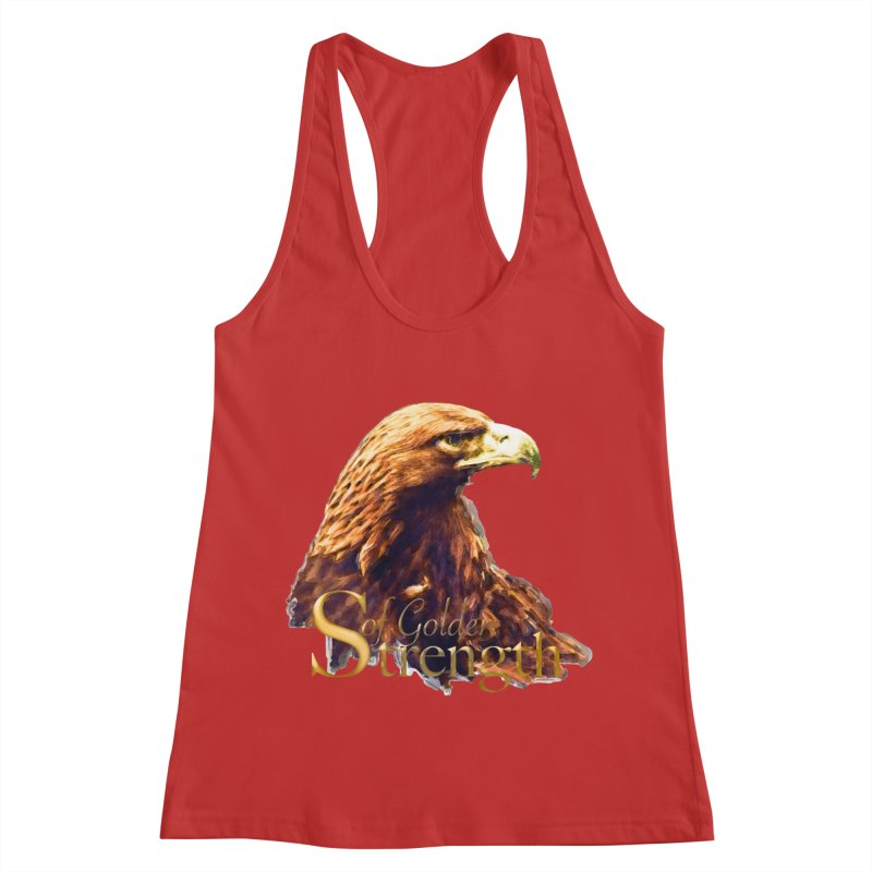 Strength Women's Racerback Tank by Of The Wild by Kimberly J Tilley