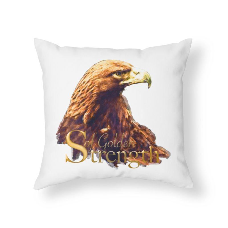 Strength Home Throw Pillow by Of The Wild by Kimberly J Tilley