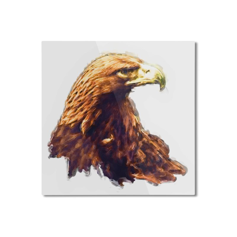 Strength Home Mounted Aluminum Print by Of The Wild by Kimberly J Tilley
