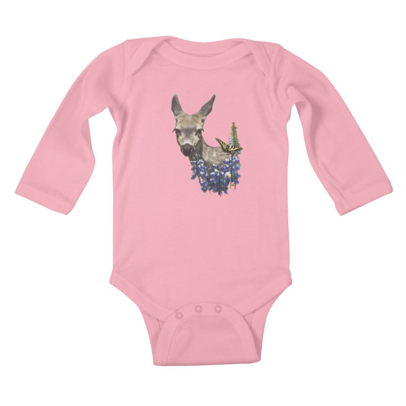 Lady of the Alpine Kids Baby Longsleeve Bodysuit by Of The Wild by Kimberly J Tilley