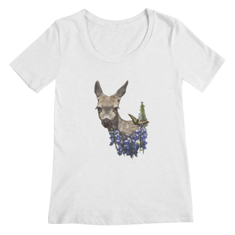 Lady of the Alpine Women's Scoop Neck by Of The Wild by Kimberly J Tilley