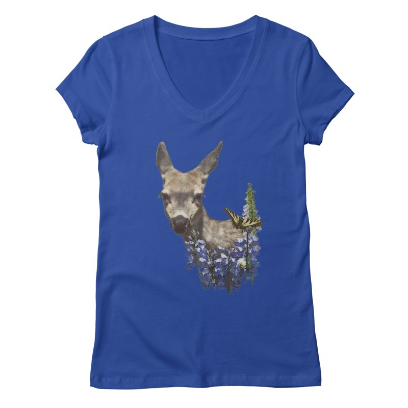 Lady of the Alpine Women's Regular V-Neck by Of The Wild by Kimberly J Tilley