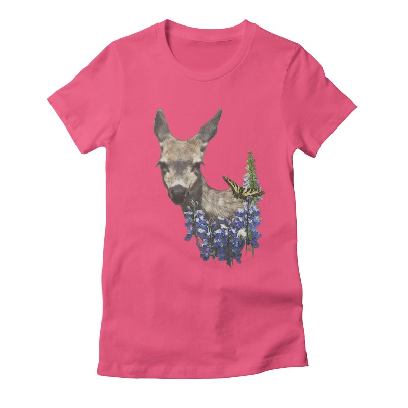 Lady of the Alpine Women's Fitted T-Shirt by Of The Wild by Kimberly J Tilley