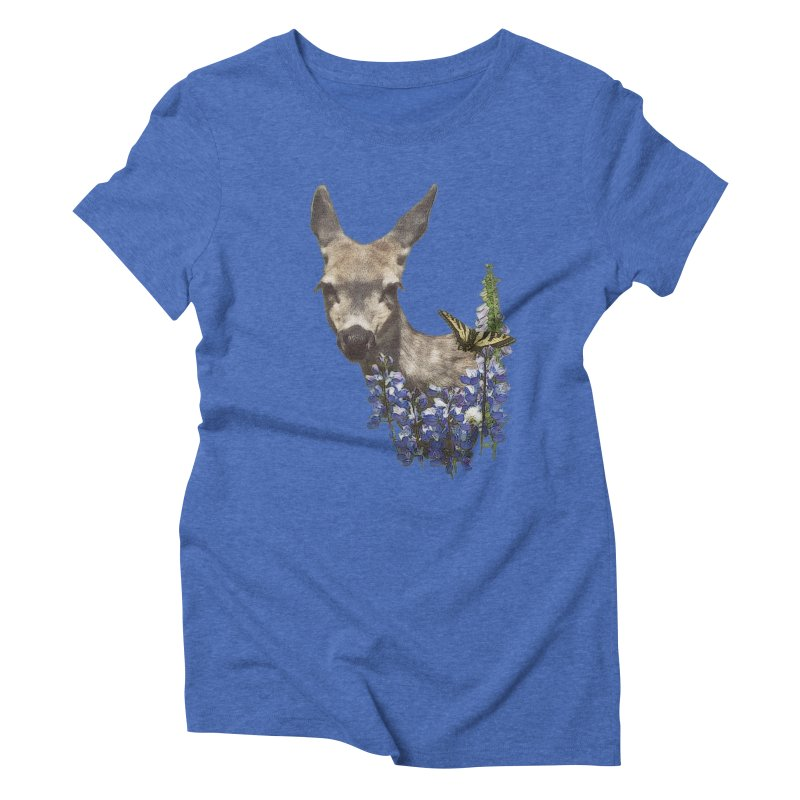 Lady of the Alpine Women's Triblend T-Shirt by Of The Wild by Kimberly J Tilley
