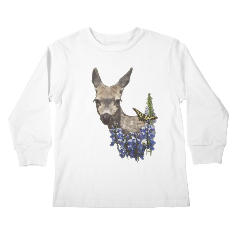 Lady of the Alpine Kids Longsleeve T-Shirt by Of The Wild by Kimberly J Tilley