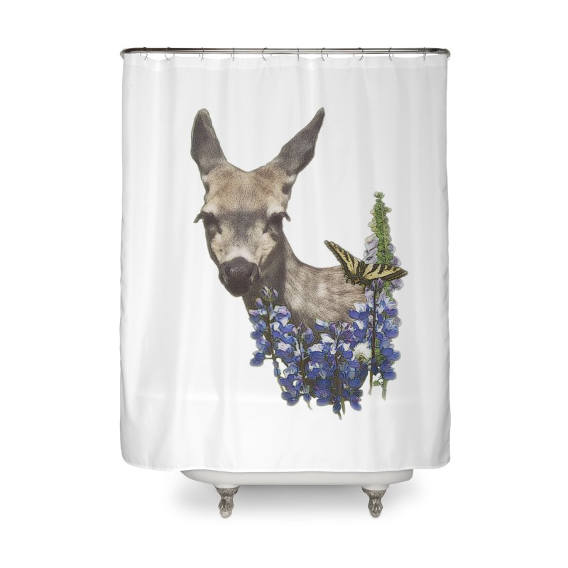 Lady of the Alpine Home Shower Curtain by Of The Wild by Kimberly J Tilley