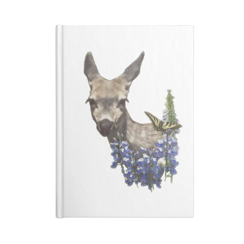 Lady of the Alpine Accessories Blank Journal Notebook by Of The Wild by Kimberly J Tilley