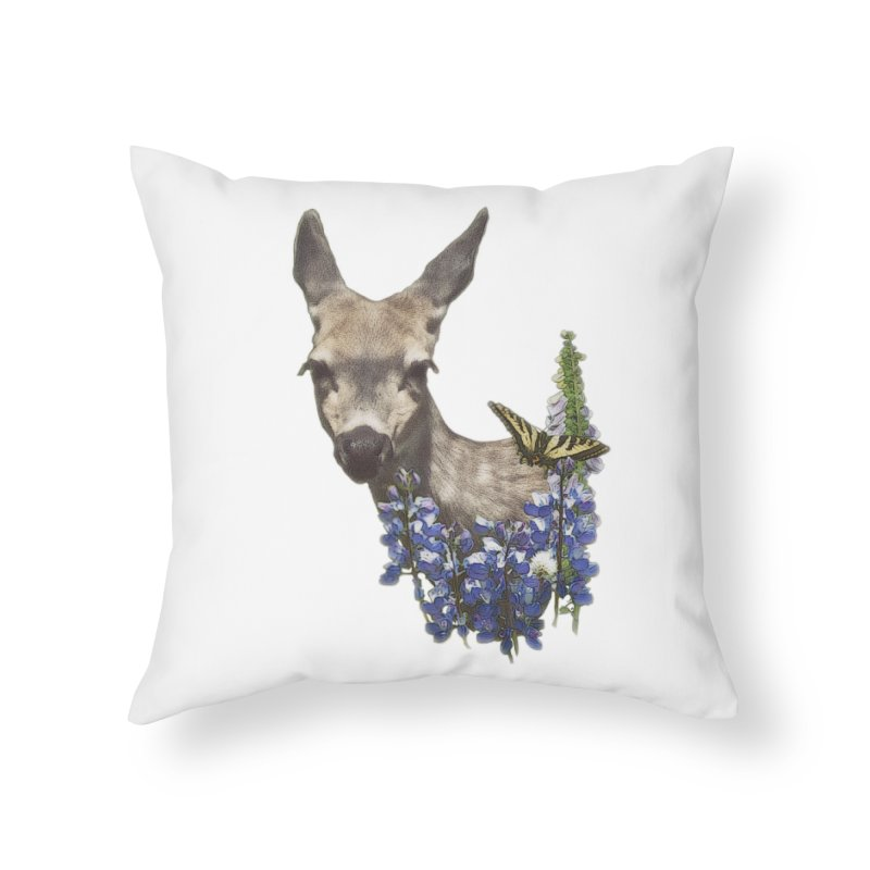 Lady of the Alpine Home Throw Pillow by Of The Wild by Kimberly J Tilley