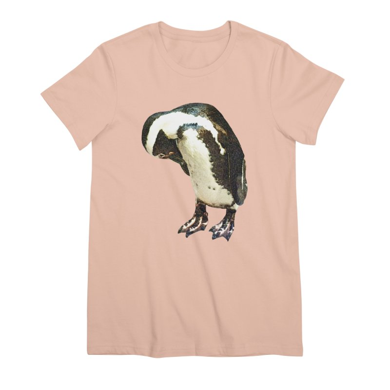 Magellanic Penguin Women's Premium T-Shirt by Of The Wild by Kimberly J Tilley
