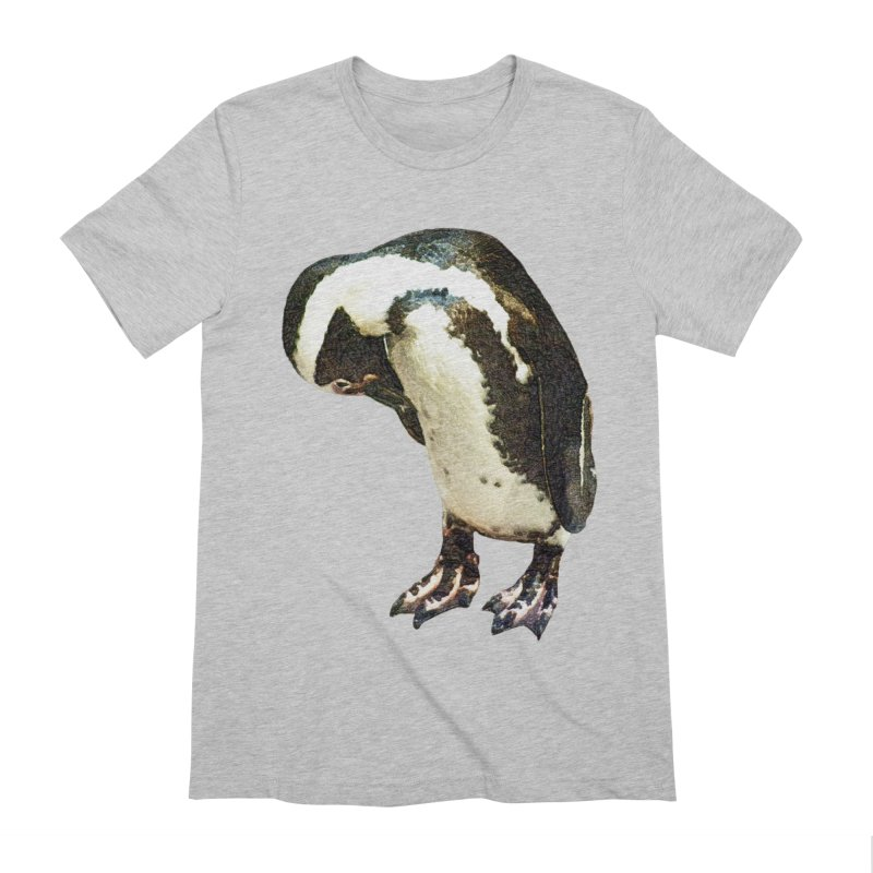 Magellanic Penguin Men's Extra Soft T-Shirt by Of The Wild by Kimberly J Tilley
