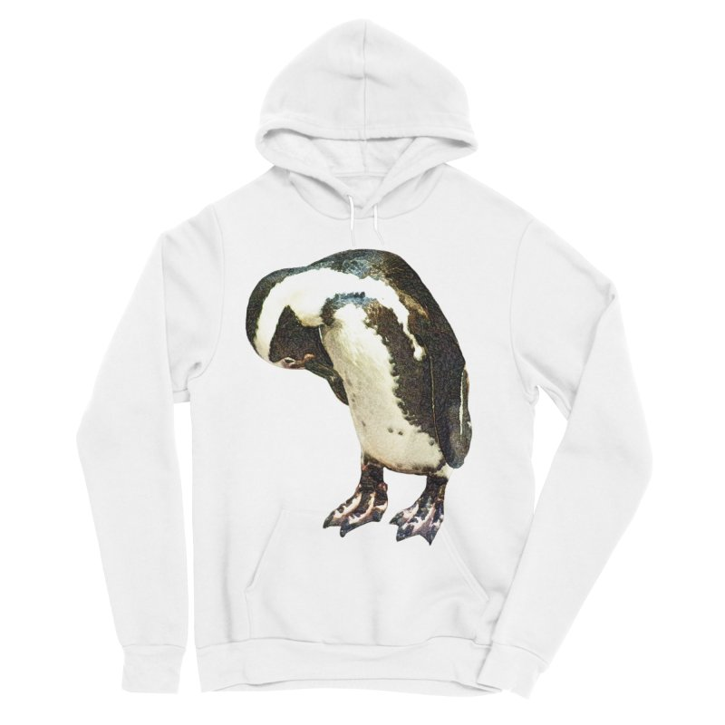 Magellanic Penguin Women's Sponge Fleece Pullover Hoody by Of The Wild by Kimberly J Tilley