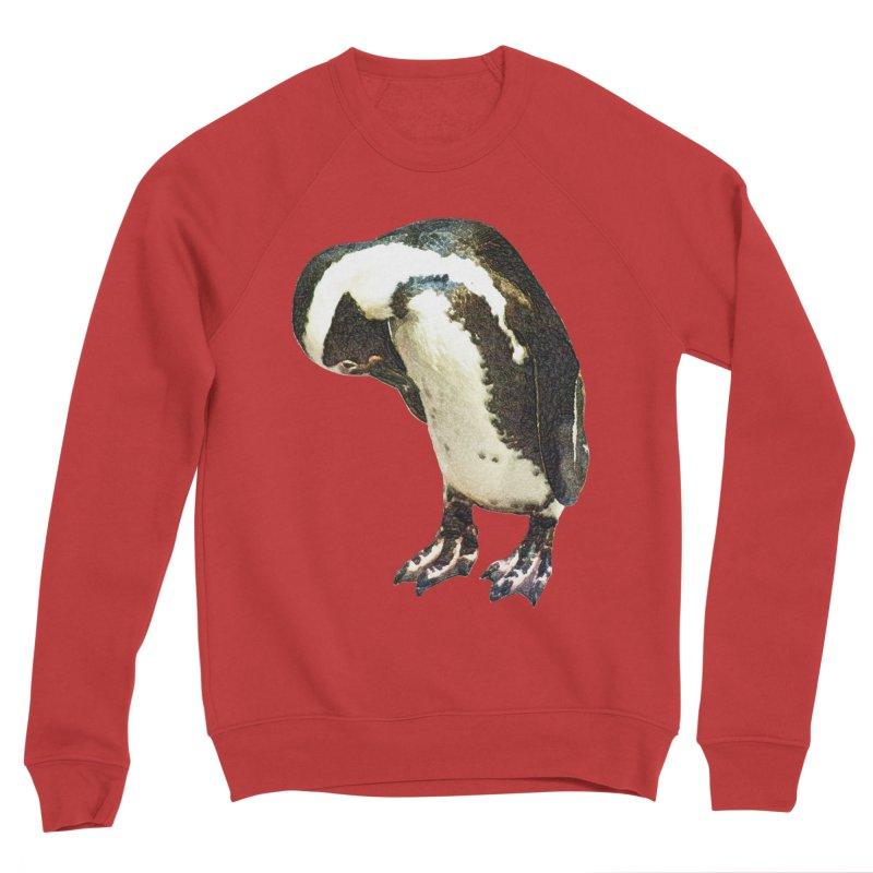 Magellanic Penguin Men's Sponge Fleece Sweatshirt by Of The Wild by Kimberly J Tilley