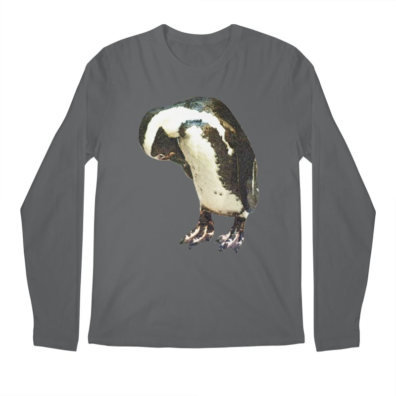 Magellanic Penguin Men's Longsleeve T-Shirt by Of The Wild by Kimberly J Tilley