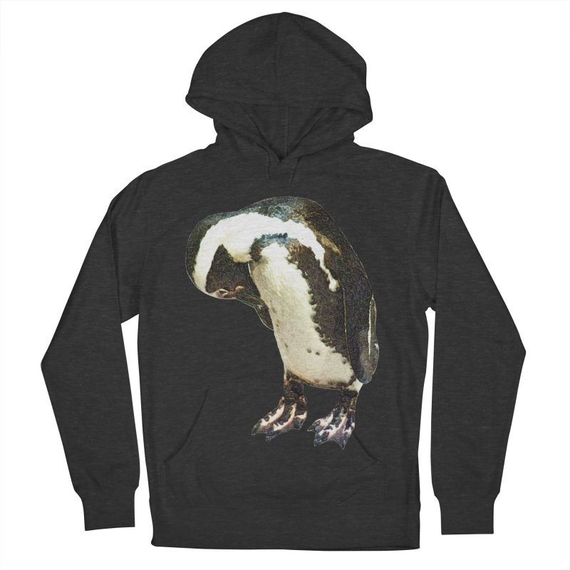Magellanic Penguin Women's French Terry Pullover Hoody by Of The Wild by Kimberly J Tilley