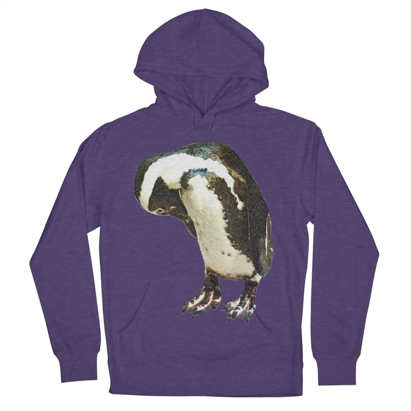 Magellanic Penguin Men's French Terry Pullover Hoody by Of The Wild by Kimberly J Tilley