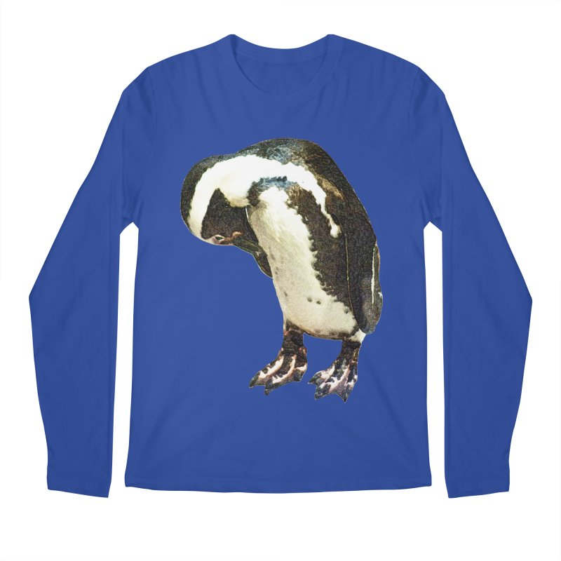 Magellanic Penguin Men's Regular Longsleeve T-Shirt by Of The Wild by Kimberly J Tilley