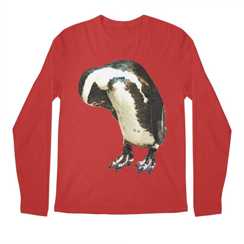 Magellanic Penguin Men's Regular Longsleeve T-Shirt by Of The Wild by Kimberly J Tilley