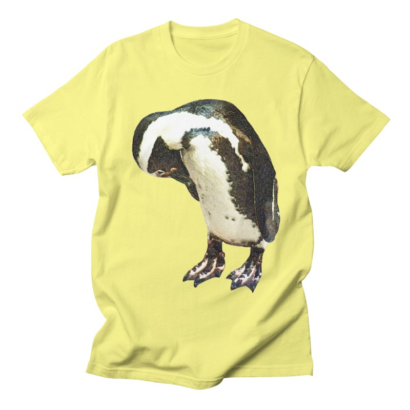 Magellanic Penguin Men's Regular T-Shirt by Of The Wild by Kimberly J Tilley