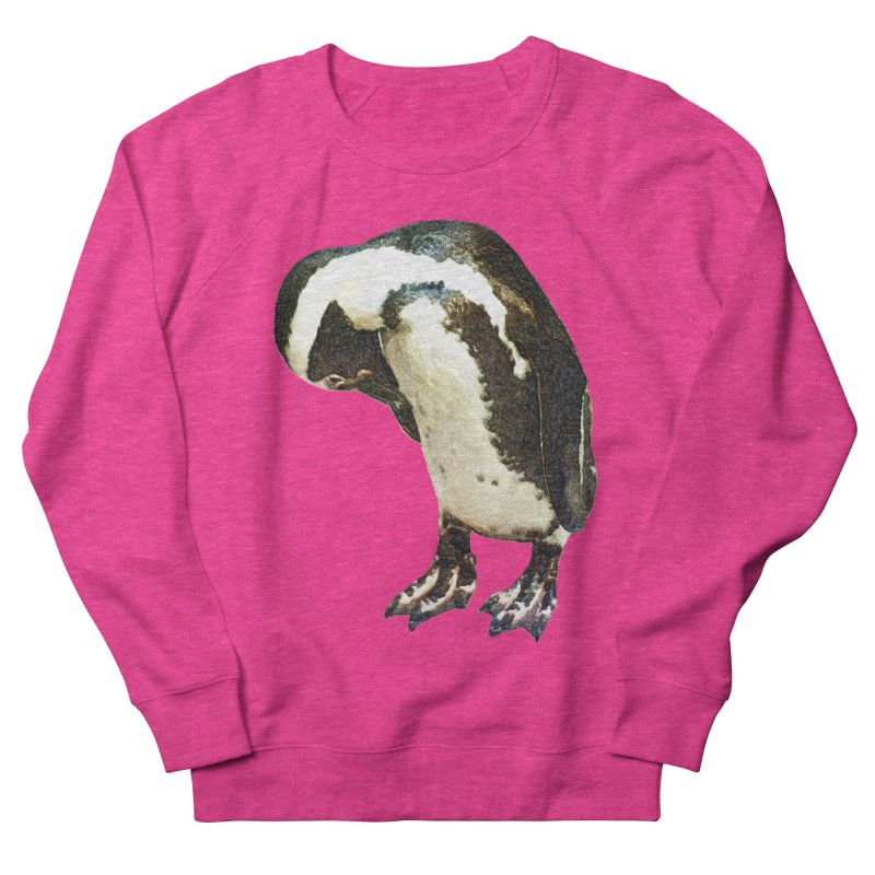 Magellanic Penguin Men's French Terry Sweatshirt by Of The Wild by Kimberly J Tilley